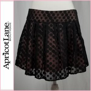 NEW Apricot Lane Black Polka Dot Skirt